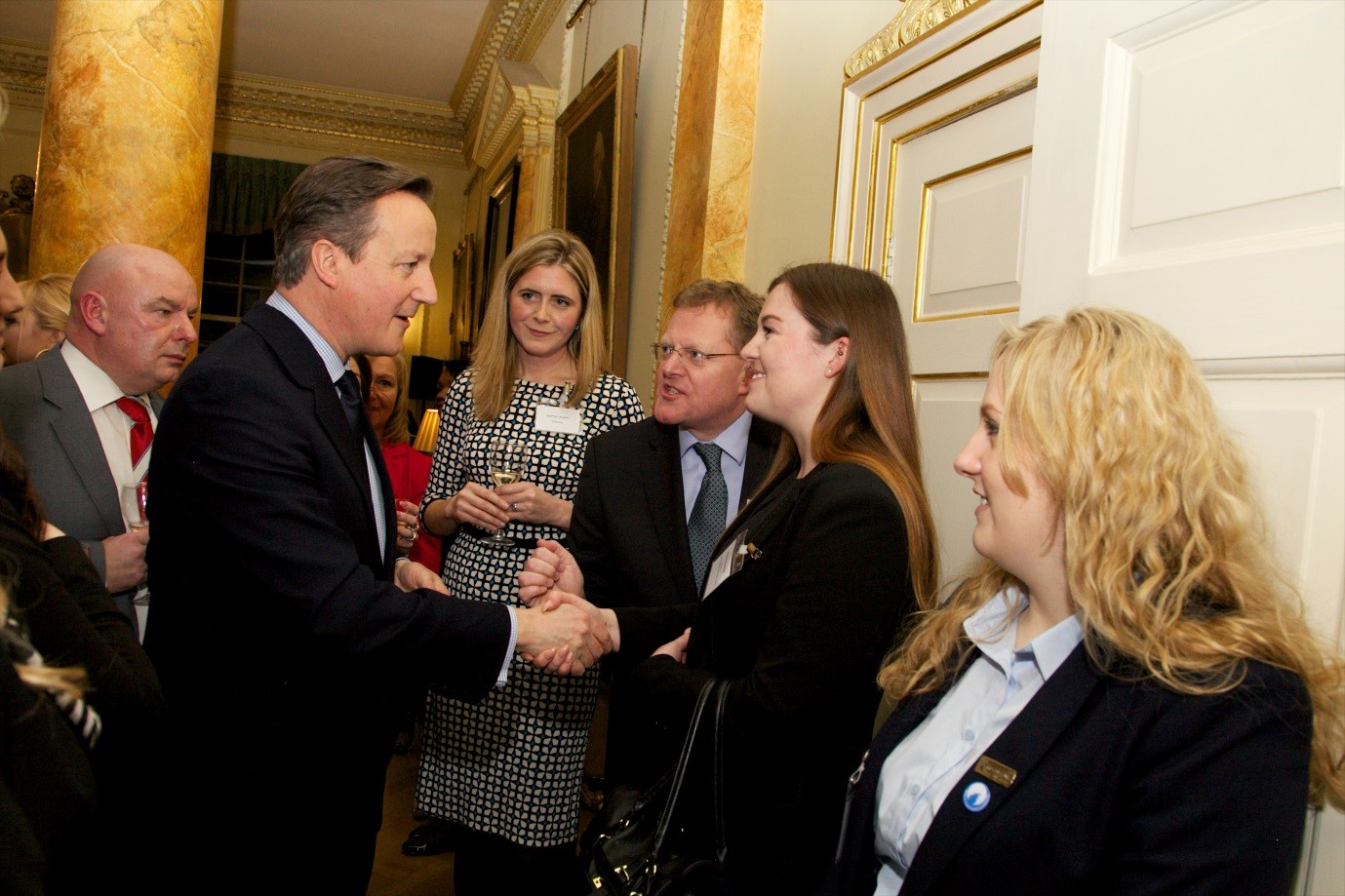 Jo meeting David Cameron on National Apprenticeships Week