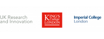 UKRI, King's Collehe London and Imperial College London Logos