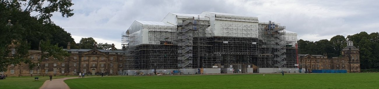 Scaffolding on Wentworth Woodhouse
