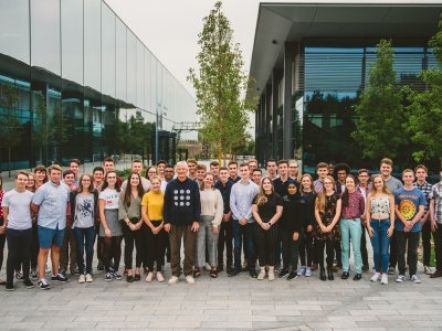 James Dyson with second cohort