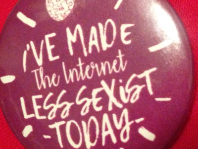 I've made the internet less sexist today Wikipedia badge