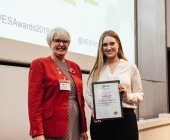 Sally Sudworth presenting Mandy Lester with her award